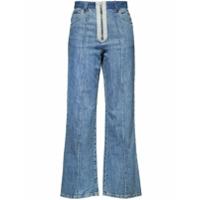 Miu Miu Calça Jeans Flare Com Patchwork - Azul