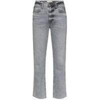 Slvrlake Calça Jeans Cropped Cintura Alta - Cinza