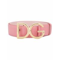 Dolce & Gabbana Cinto De Couro Com Logo - Rosa