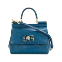 Dolce & Gabbana Bolsa Tote 'sicily' Pequena - Azul
