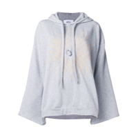 Atu Body Couture Oversized Crystal Hoodie - Verde