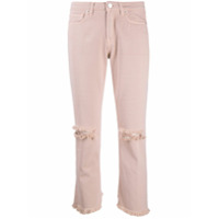 Two Denim Galia Distressed Cropped Jeans - Rosa