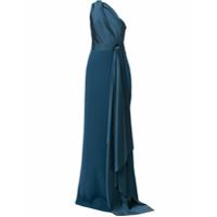 Solace London Vestido De Festa Mara Com Um Ombro - Azul
