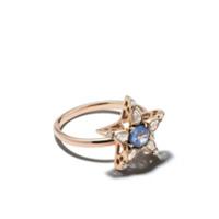 Selim Mouzannar Anel Star De Ouro Rosé 18K Com Safira E Diamantes - Rose Gold