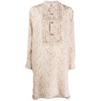 Etro Vestido Midi De Seda Com Estampa Paisley - Neutro