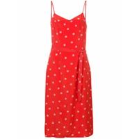 Hvn Slip Dress Com Cinto - Vermelho