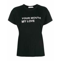 Rag & Bone Camiseta 'your Mouth My Love' - Preto