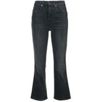 Khaite Calça Jeans Flare Cropped - Preto