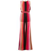 M Missoni Striped Jumpsuit - Vermelho
