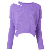 Pinko Suéter Com Recorte - Roxo