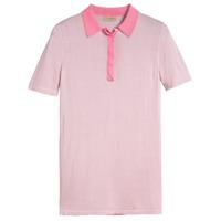 Burberry Camisa Polo De Seda E Cashmere - Rosa