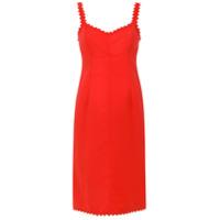 Reinaldo Lourenço Vestido Midi Com Recortes - Vermelho
