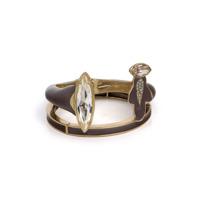 Camila Klein Bracelete Com Aplicação - Ouro Velho