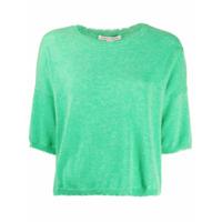Autumn Cashmere Suéter Mangas Curtas - Verde