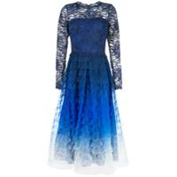 Tadashi Shoji Vestido Evasê Degradê - Azul