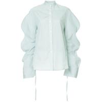 Eudon Choi Oversized Sleeves Shirt - Verde