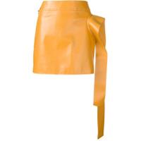 Jw Anderson Saia De Couro Com Drapeado - Amarelo