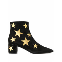 Saint Laurent Ankle Boot Com Patch De Estrela - Preto