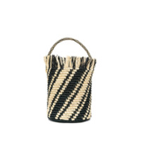 Sensi Studio Striped Bucket Bag - Neutro