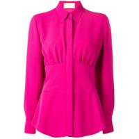 Sara Battaglia Camisa Com Recorte Na Cintura - Rosa