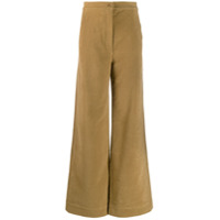 Katharine Hamnett London Calça Pantalona Cintura Alta - Marrom