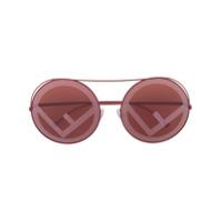 Fendi Eyewear Óculos De Sol 'run Away' - Vermelho