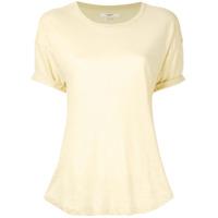 Etoiles Camiseta Mangas Curtas De Linho - Amarelo