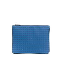 Delage Clutch Pochette Plate Gm - Azul