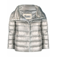 Herno Cropped Zip-Up Jacket - Cinza