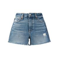 Rag & Bone Short Jeans Cintura Média - Azul
