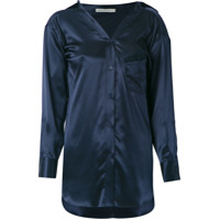 Martha Medeiros Camisa De Seda - Azul