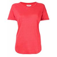 Etoiles Camiseta Mangas Curtas De Linho - Vermelho