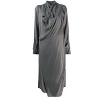 Low Classic Vestido Com Detalhe De Drapeado Midi - Verde
