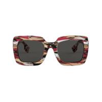 Burberry Eyewear Óculos De Sol Oversized Quadrado - Vermelho