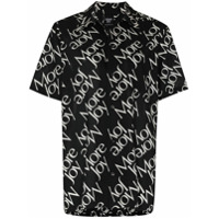 More Joy Camisa Com Estampa Corrida De Logo - Preto