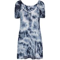 Miaou Vestido Evasê Tie Dye - Azul