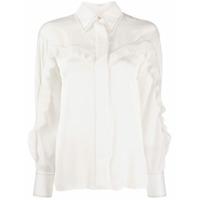 Sandro Paris Pleated Detail Shirt - Branco