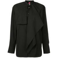 Y's Layered Frill Shirt - Preto