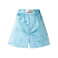 Matthew Adams Dolan Short Cintura Alta - Azul