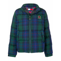 Tommy Jeans Plaid Puffer Jacket - Azul