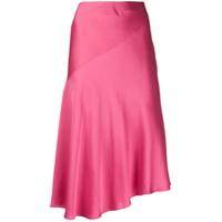 Helmut Lang Vestido Assimétrico Com Fenda - Rosa
