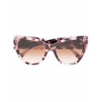 Valentino Eyewear Óculos De Sol Oversized - Rosa