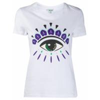 Kenzo Camiseta De Algodão Com Estampa De Olho - Branco