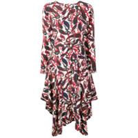 Chloé Vestido Midi Com Estampa Paisley - Vermelho