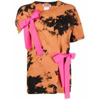 Gina Bow-Detail Printed T-Shirt - Preto