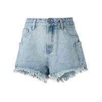 John John Short Jeans Desfiado - Azul