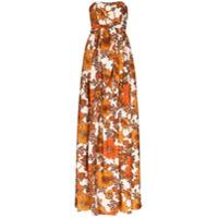Dodo Bar Or Vestido Longo Zaza Com Estampa Floral - Laranja