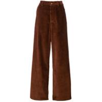 Ami Paris Calça Pantalona - Marrom