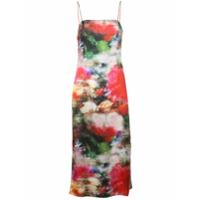 Adam Lippes Vestido Floral Tie Dye - Estampado