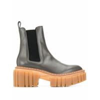 Stella Mccartney Ankle Boot Com Plataforma - Verde